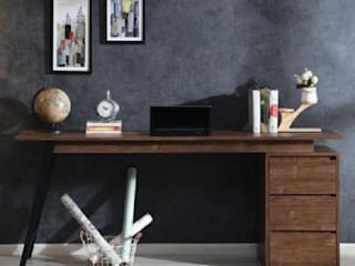 Buy Uno Writing Desk Online – Best writing table with drawers by Ensemble Homes Atmosphere Study/officeDesks Wood Wood effect