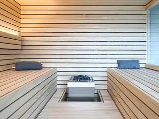 Designsauna mit Vis-à-Vis-Liegen | KOERNER Saunamanufaktur KOERNER SAUNABAU GMBH Sauna