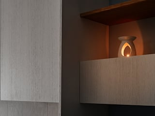 manuarino architettura design comunicazione 客廳餐具櫃 木頭 White