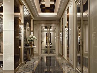 Ego - Brummel Brummel Ingresso, Corridoio & Scale in stile classico Legno massello Bianco