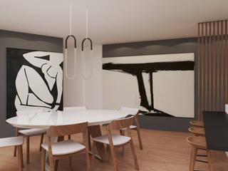 Vivenda - Santa Maria da Feira Angelourenzzo - Interior Design Salas de jantar minimalistas