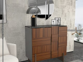 Mezzettidesign BedroomWardrobes & closets Wood Wood effect