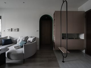 有隅空間規劃所 Couloir, entrée, escaliers originaux Bois Blanc