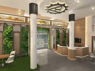 Charoenchai transformer offices Modernize Design + Turnkey ห้องทำงาน/อ่านหนังสือ ไม้ Brown