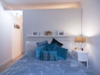 A4Architette BedroomBeds & headboards Textile Blue