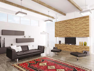 Persian House Living room Bamboo Red