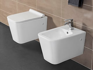 Composizione bagno linea Urban stile Industrial Inbagno BagnoSedute Ceramica Bianco