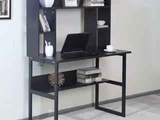 Moreno Hutch Study Table by Ensemble Homes – Buy Study Table with Bookshelf Online Atmosphere Study/officeDesks Wood Black