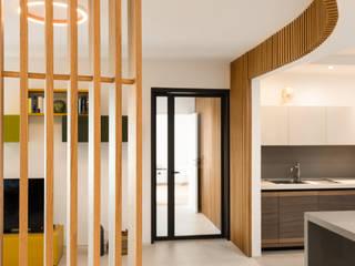 Grippo + Murzi Architetti Modern corridor, hallway & stairs لکڑی