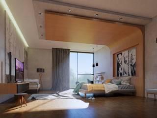 ConstruTech & Technology BIM Kamar Tidur Minimalis Kayu Buatan Grey