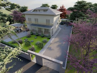 Efficienza e rigore nella riqualificazione di un villino Teresa Romeo Architetto Casa unifamiliare Laterizio Bianco