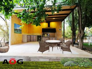 AOG Balcone, Veranda & Terrazza in stile moderno Legno composito