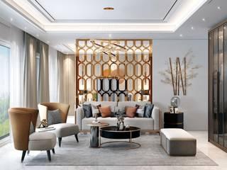 HC Designs Dormitorios pequeños Concreto Gris