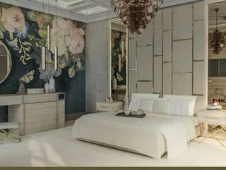 HC Designs Dormitorios pequeños Concreto Beige