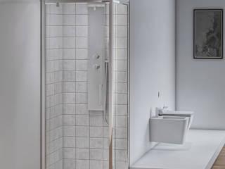 Composizione bagno linea Oxid con box doccia satinato e sanitari rimless Inbagno BagnoVasche & Docce Vetro Trasparente