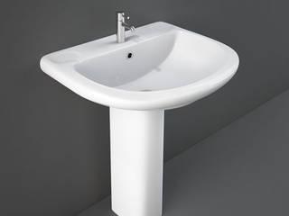 Composizione arredo bagno con mobile sottolavabo copricolonna Inbagno BagnoLavabi Ceramica Bianco