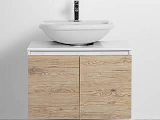 Composizione arredo bagno con mobile sottolavabo copricolonna Inbagno BagnoContenitori Legno Effetto legno