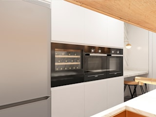 ZERMATT DECORACION S.L Modern style kitchen Chipboard White