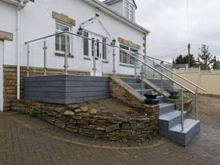 Glass Balustrade Staircase Origin Architectural Corridor, hallway & stairsStairs
