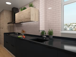 ZERMATT DECORACION S.L Kitchen units Chipboard Black