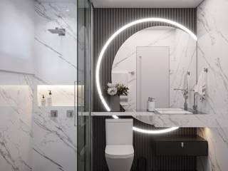 Camila Pimenta | Arquitetura + Interiores Kamar Mandi Modern Kayu Black