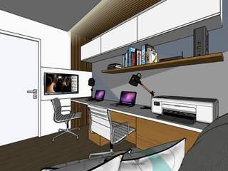 Studio-VF-Arquitetura Oficinas de estilo moderno Madera Azul