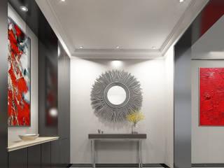 Konut projesi antre tasarımı İNCİ YANARDAĞ İÇMİMARLIK Modern Koridor, Hol & Merdivenler Ahşap Gri