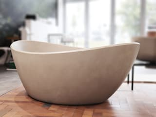 Luxum 衛浴浴缸與淋浴設備 水泥 White