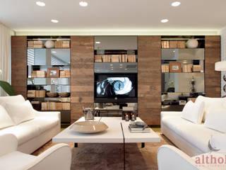 Interior Design altholz, Baumgartner & Co GmbH Moderne Wohnzimmer Holz