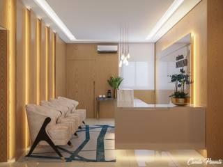 Camila Pimenta | Arquitetura + Interiores Oficinas de estilo moderno Madera Beige