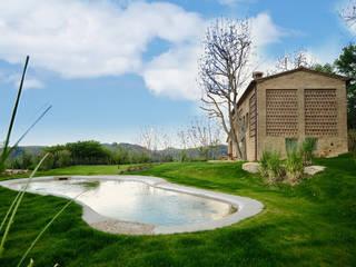 Restauro Annesso e nuova costruzione di laghetto artificiale Arch. Alessandra Cipriani Laghetto da giardino