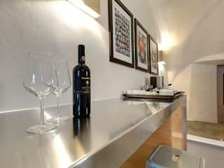 Restauro di appartamento B&B centro Firenze Arch. Alessandra Cipriani Cucina piccola