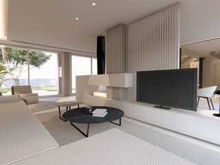 Proyecto de interiorismo en Carcaixent, Valencia Arquitectura Sostenible e Interiorismo | a-nat Salones de estilo minimalista