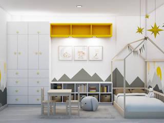 Leidy Ulloa Arquitectura y diseño interior Baby room Grey