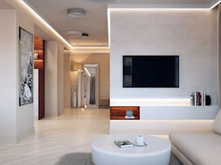 Студия дизайна интерьера 'Золотое сечение' Living room White