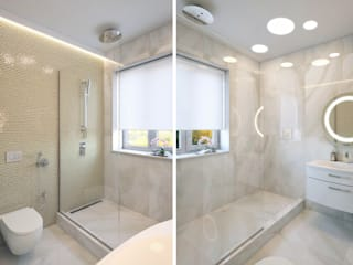 Студия дизайна интерьера 'Золотое сечение' Minimalist style bathroom White
