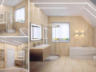 Студия дизайна интерьера 'Золотое сечение' Minimalist style bathroom Beige