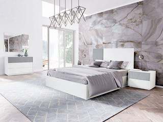 Intense mobiliário e interiores ห้องนอนเตียงนอนและหัวเตียง