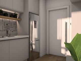 Isabela E. Soares - Designer de interiores KitchenCabinets & shelves MDF Grey