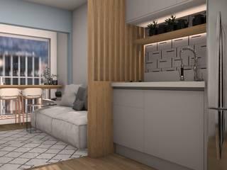 Isabela E. Soares - Designer de interiores KitchenCabinets & shelves MDF