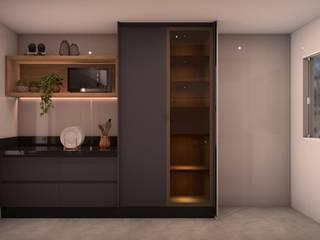 Isabela E. Soares - Designer de interiores KitchenCabinets & shelves MDF Black