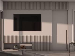 Isabela E. Soares - Designer de interiores Living roomCupboards & sideboards MDF Beige