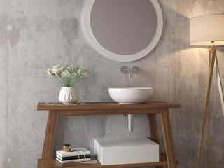 Móvel WC Hannover A3banho Casa de banhoArmários Madeira Branco