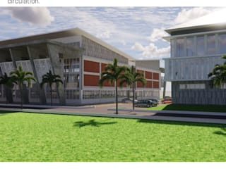 SPORT HALL BujurSangkar Architect Rumah Gaya Industrial