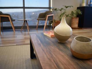 Ralph Wilson ห้องนั่งเล่นโต๊ะกลางและโซฟา ไม้เอนจิเนียร์ Wood effect