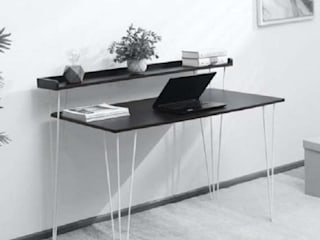 Ruben Modern Writing Table by Ensemble Homes – Get Writing Table Online at Best Price Atmosphere Study/officeDesks Wood-Plastic Composite Black