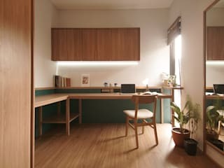 Paradesa Residence ASAT.Studio Ruang Studi/Kantor Modern