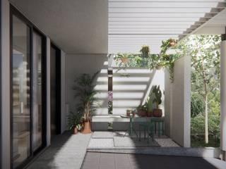 Harmony Residence ASAT.Studio Balkon, Beranda & Teras Modern