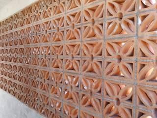 Variable Rustic style corridor, hallway & stairs Bricks Orange