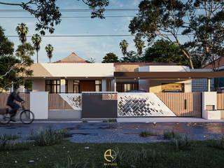Rancang Reka Ruang Single family home Brown